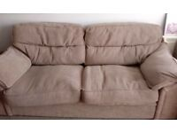 Beige next sofa and 2 armchairs waffle affect good clean condition washable covers.