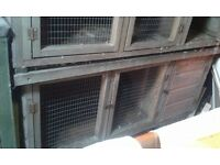 2 rabbit hutches. collection only, thringstone. solid hutches