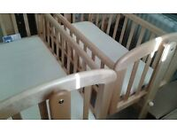 John Lewis Crib used for less than 6 months 2 available.
