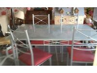 Free Glass Table & 4 Chairs to collect