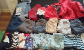 Large Bundle Of Boys Clothes Aged Approx 12-18 Months