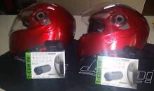 Two Full face Flip helmets with built in Sun visors and Blue Toot Northgate Port Adelaide Area Preview