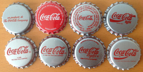 *S* SET OF 8 COCA-COLA BOTTLE CAPS FROM VENEZUELA ----UNPRESSED----