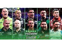 Premier League darts - front table seats - Exeter Westpoint 1.3.18 - FACE VALUE