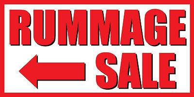 4'x8' Scour Sale Left Arrow Vinyl Banner Sign - garage, yard, rank