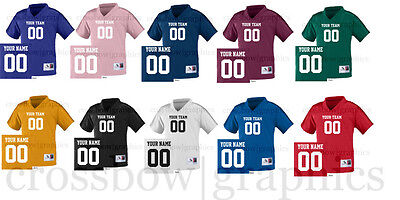 CUSTOM TODDLER Football Jersey ANY COLOR Personalized Name Number Team New!