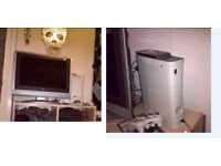 flat screen tv 22 inch and x box 360