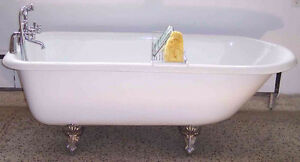 """Claw foot cast iron bathtub 61"""" $$$900"""