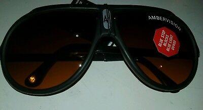AMBER VISION sunglasses lot of 1 DOZEN new old stock 1980s 100%UV