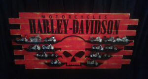 Harley miniatures et support artisanal
