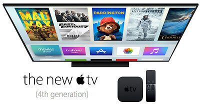 NEW! Apple TV 4th Start 32 GB (Latest Model) Live Steaming Wifi Sealed Box