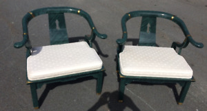 Horseshoe James Mont Loungers Chairs x2