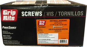 "Grip-Rite 1-1/4"" Drywall Screw (Coarse) for $34.99 a box"
