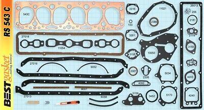 Chevy/GMC 235 Full Engine Gasket Set BEST 1953-63 COPPER Head+Manifold+Oil Pan