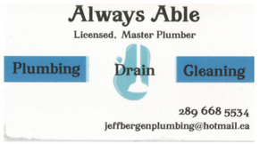 master plumber ALWAYS ABLE PLUMBING AND DRAIN CLEANING services