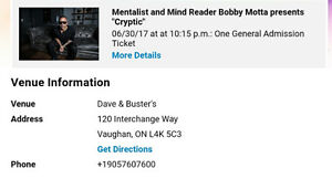 Mentalist and Mind Reader Bobby Mitts tickets