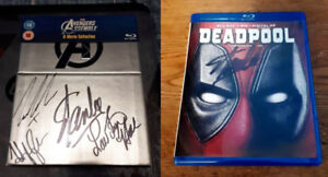 Avengers Phase 1 and Deadpool Blu-rays Autographed