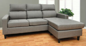 L shape sectional with reversible chaise for only $399.