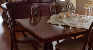 Dining Room set of 8 chairs  & Hutch $2700.00 call 880-7725