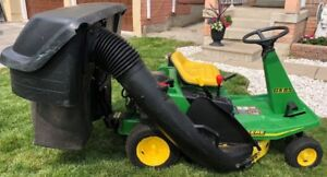John Deere GX85 Riding Lawn Mower with Bagger