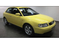 1999(T)AUDI A3 1.8 TURBO SPORT YELLOW,BLACK LEATHER,CLEAN CAR,GREAT VALUE