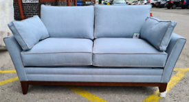 Brand New Darlings Of Chelsea Exmouth 2 Seater Sofa Bed In Powder Blue
