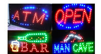 FREE Shipping_Led OPEN Sign* BAR Signs* MANCAVE Signs* ATM..$44.