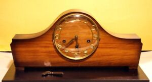 Walters Mantel Mechanical Vintage Clock Made In Germany.