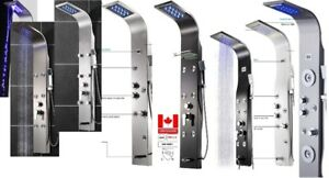 KV&V LED shower panel tower column systems of superior quality