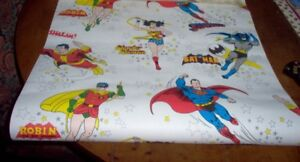 1 ROLL DC COMICS 1978 WALLPAPER-SUPERHEROES-COLLECTIBLE