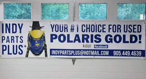 "INDY PARTS PLUS! ""YOUR #1 CHOICE FOR USED POLARIS GOLD!"""