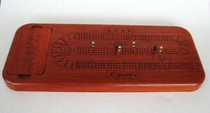 Personalized Exotic Wood Cribbage Board