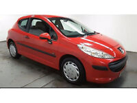 2007(57)PEUGEOT 207 1.4 URBAN BRIGHT RED,VERY LOW MILES,NEW MOT,CLEAN CAR,GREAT VALUE