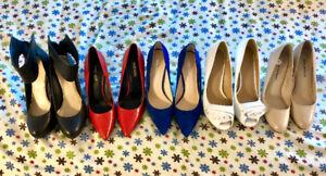 High Heel Shoes, Never worn, Sizes 8 - 8.5