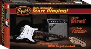 Fender Squire Affinity Strat Pack Electric Guitar with 15G Amp