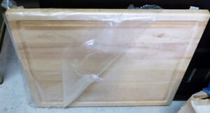 "large 22""x24"" solid wood cutting board"