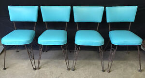 SET OF 4 RETRO CHAIRS - MINT - Estate Auction THIS MONDAY NIGHT