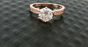 New Top Quality Zircon Austrian Crystal Simulate Engagement Ring