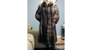 Full length Raccoon coat.