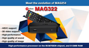 IPTV BOX  MAG322 + 1 YEAR SUBSCRIPTION $250