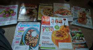 a big mixed lot of cooking magazines, including food network