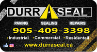 ASPHALT PAVING, SEALING & REPAIRS  ***DURRASEAL***