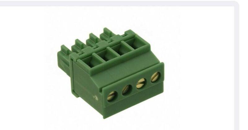 "(10)1827143, PHOENIX,4 Pos Terminal Block Plug, Female Sockets 0.150""(3.81mm)"