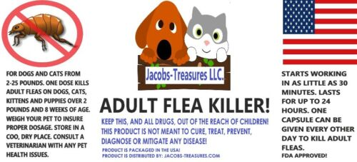 Adult Flea Killer, Fast Acting, For Dogs & Cats 2-25 Pounds, Beef Flavored