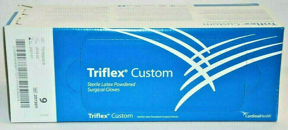 OP Handschuhe Einmalhandschuhe Steril Einweg Triflex Gr.9 Latex gepudert 40Stück