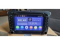 Volkswagen car stereo android bluetooth 2din sat nav for VW Golf Passat Caddy wifi rns510 style