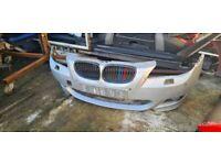 BMW E60 E61 Front/Rear Bumper Complete M Sport Genuine Titan Silver 2004-10