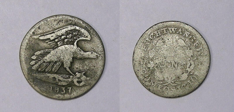 1837 FEUCTWANGER CENT TOUGH AND POPULAR INV#344-2