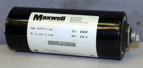 Maxwell Technologies BCAP0010 Boostcap Capacitor 2600F 2.5V