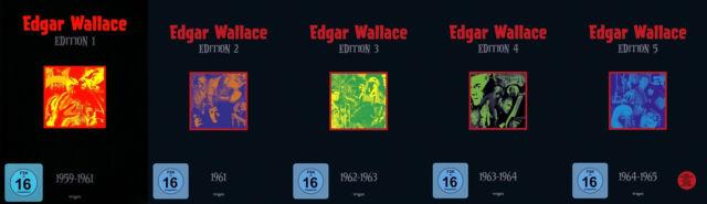 EDGAR WALLACE Box 1 2 3 4 5 BOGENSCHÜTZE Toten Augen.. INDISCHE TUCH 20 DVD Neu